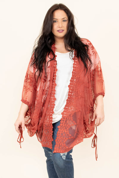 Thinking With My Heart Kimono, Marsala