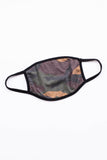 face mask, ear loops, covid, comfy, camo, green, black, tan