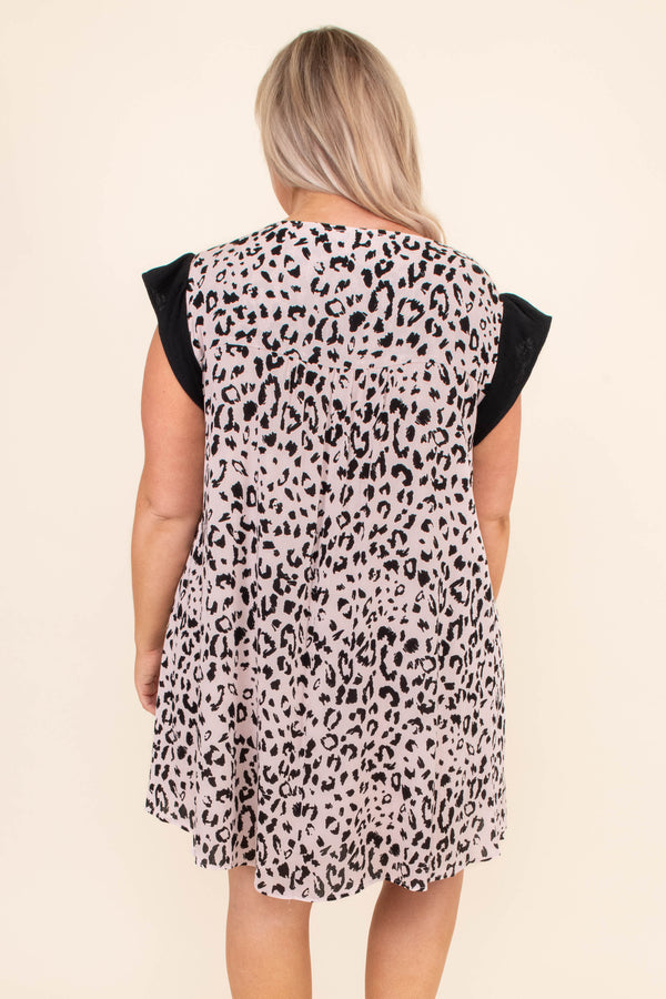 Open Invitation Dress, Leopard