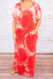 Hot Tropics Maxi Dress, Red