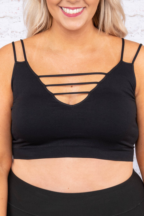 Night And Day Bralette, Black