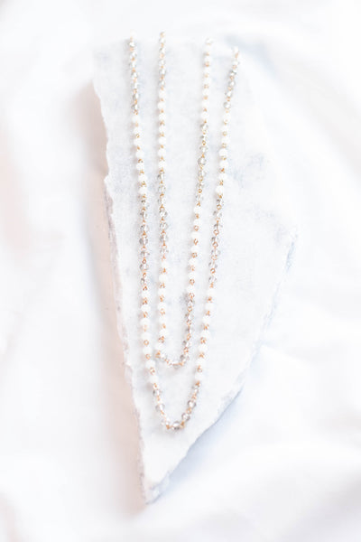 Keep It Classy Necklace, White