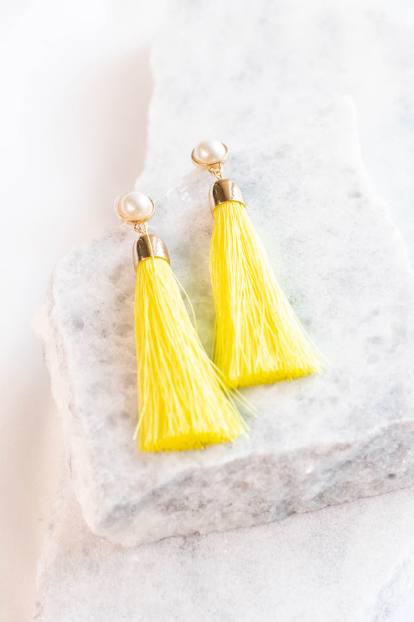 Prized Possession Earrings, Yellow