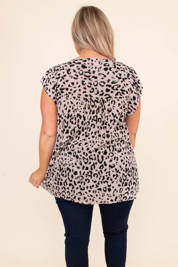 shirt, short sleeve, leopard, beige, embroidered, pink, black, yellow, baby doll, v neck, loose, comfy