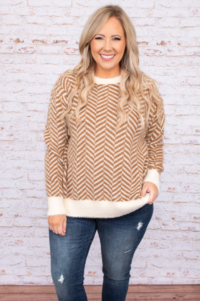Serenade Me With Love Sweater, Taupe