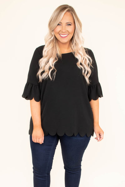 Monday Meeting Top, Black