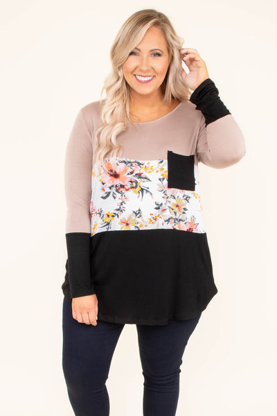 Napa Bound Top, Taupe