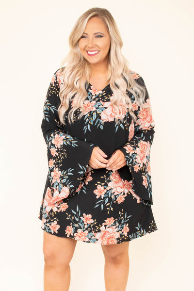 Moonlight Garden Dress, Black