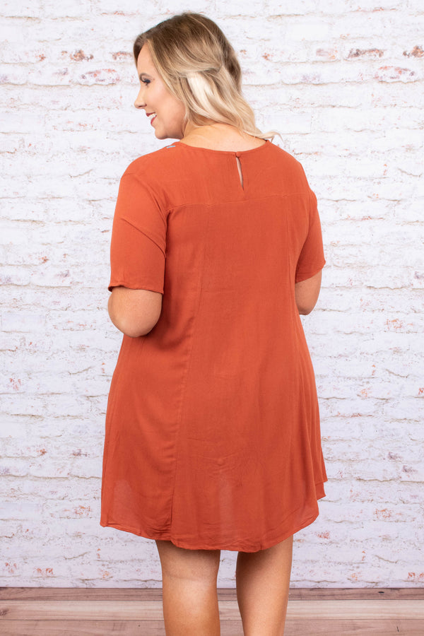 dress, short, short sleeve, flowy, orange, embroidered, blue, green, pink, red, comfy