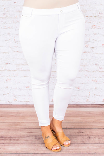 New Rules Jeggings, White