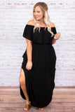 By the Boardwalk Maxi Dress, Black
