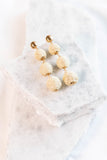 Seeking Paradise Earrings, Cream