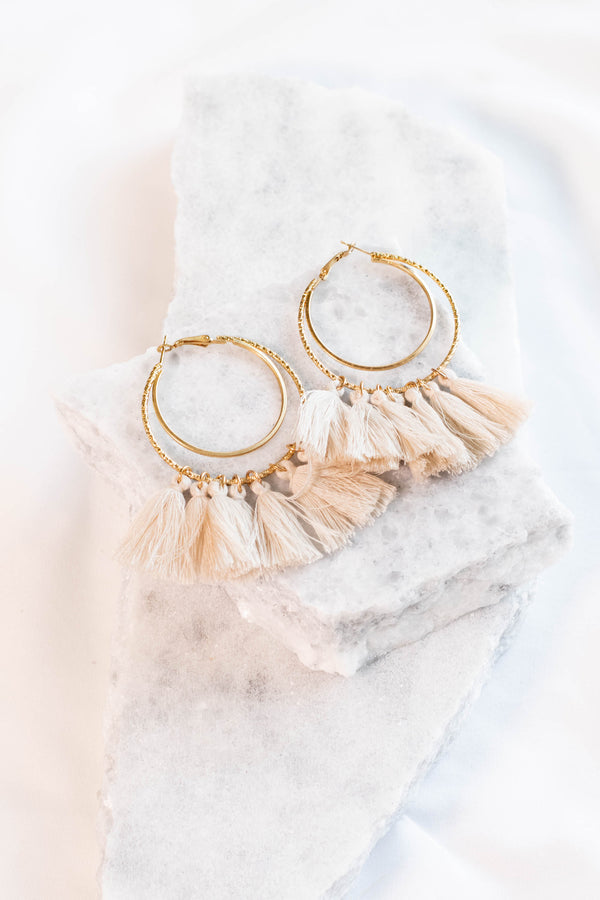 Story Of My Life Earrings, Ivory