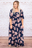 Forever In Love Dress, Navy