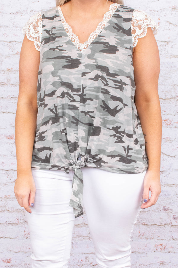 Find A Hideaway Top, Gray