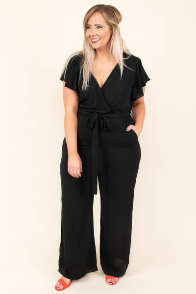 Try Not To Stare Jumpsuit, Black