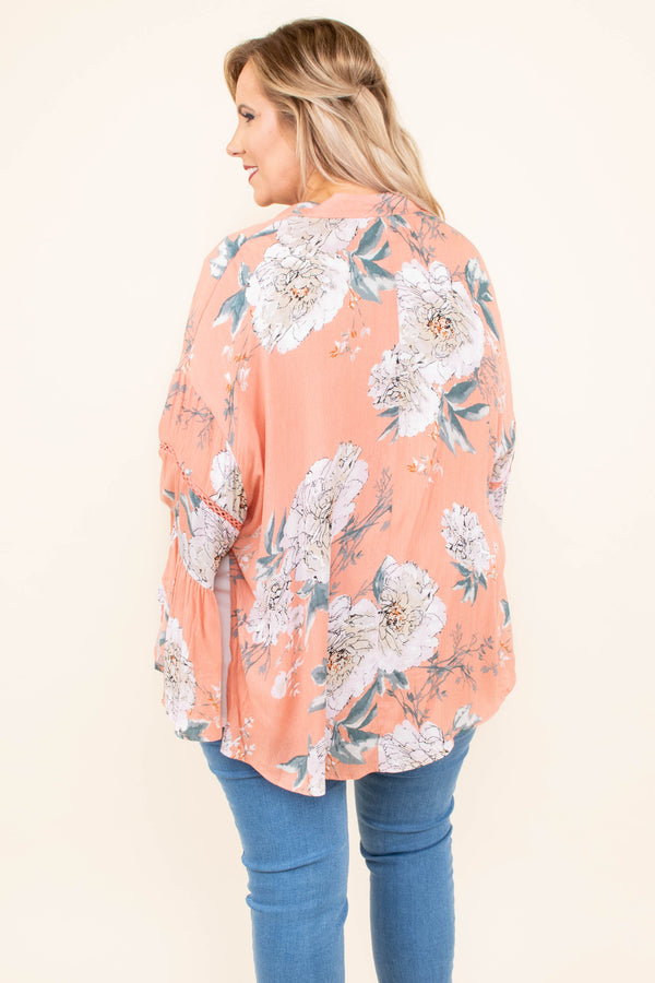 Tell The World Kimono, Peach