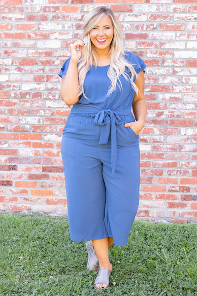 The Time Of My Life Jumpsuit, Denim Blue