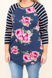 Budding Beauty Top, Navy
