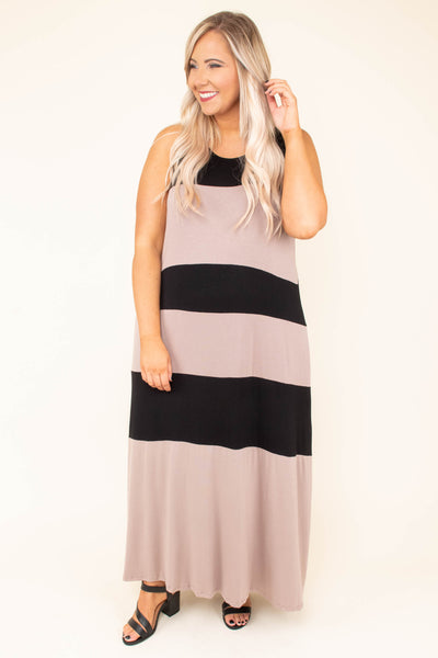 Destination Wedding Maxi Dress, Black-Mocha
