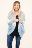 Cuddles With You Cardigan, Heather Grey-Blue