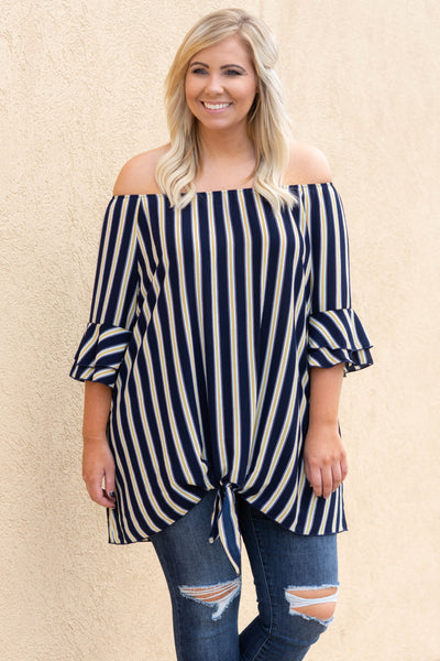 Only Good Times Tunic, Navy