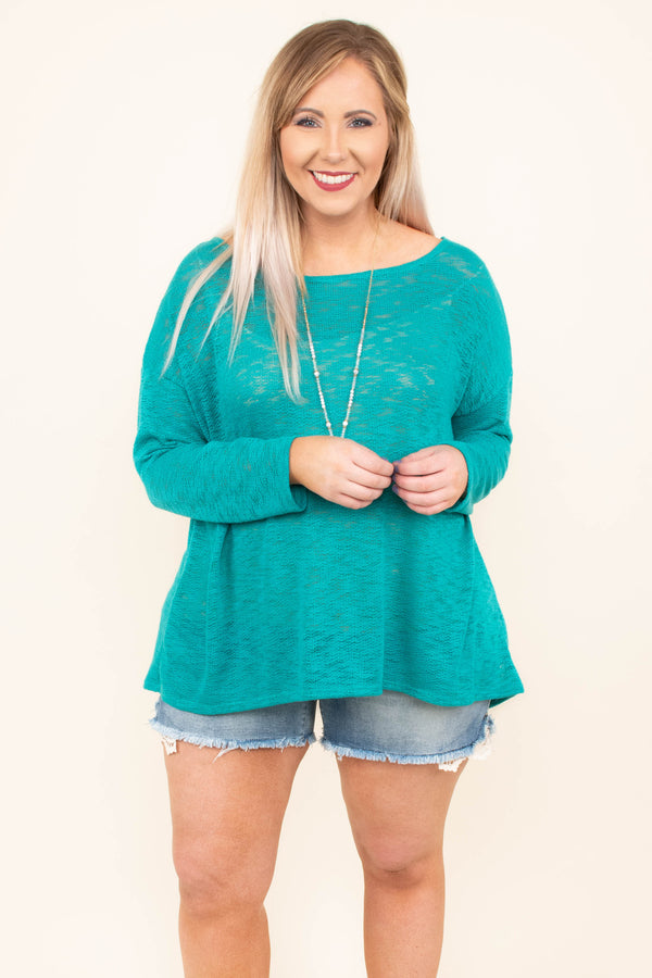 Lounge The Day Away Top, Jade