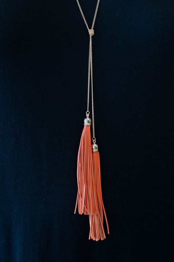Double the Fun Necklace, Orange