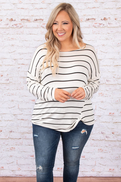 Stripe Babe Top, Ivory