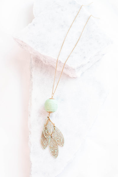 Dream Catcher Necklace, Mint