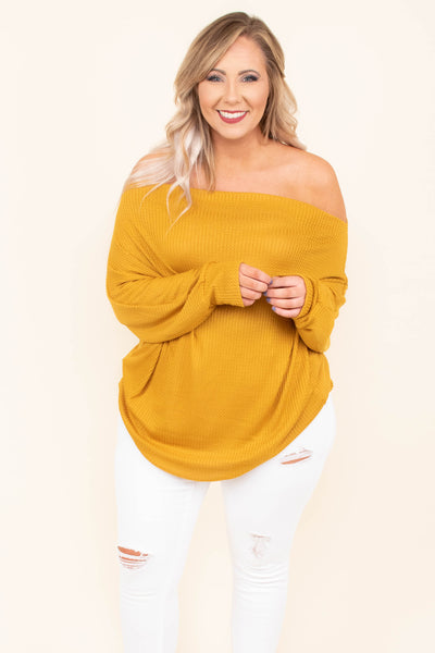 Sugar And Spice Top, Mustard
