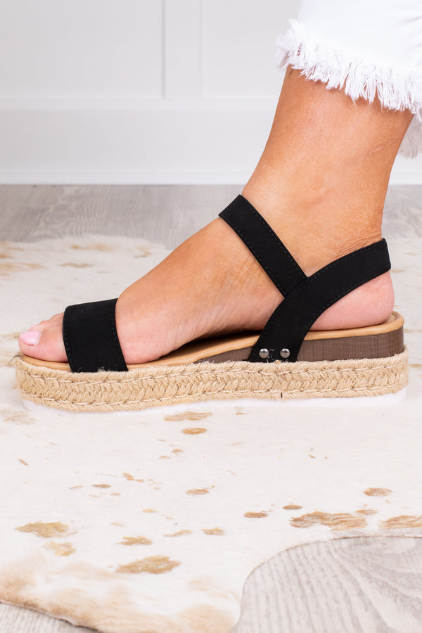 Footloose Sandals, Black