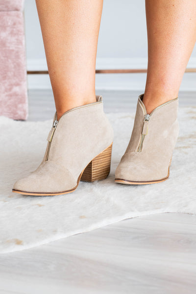 Walk Of Fame Booties, Taupe