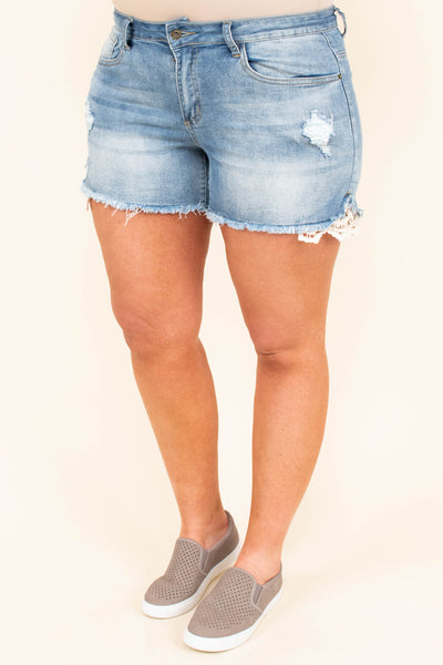 Summer Crushin' Shorts, Lightwash