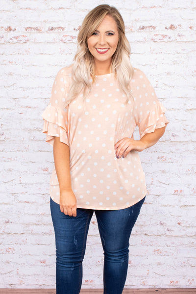 Cheerful Spirit Top, Peach