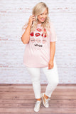 tshirt, short sleeve, long, loose, comfy, pink, graphic, lips, mood, red, black, white
