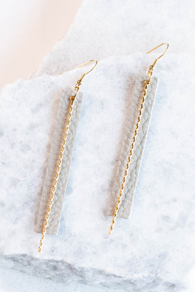 Golden Gate Earrings, Grey-Gold
