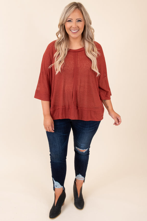 Pumpkin Kisses Top, Rust