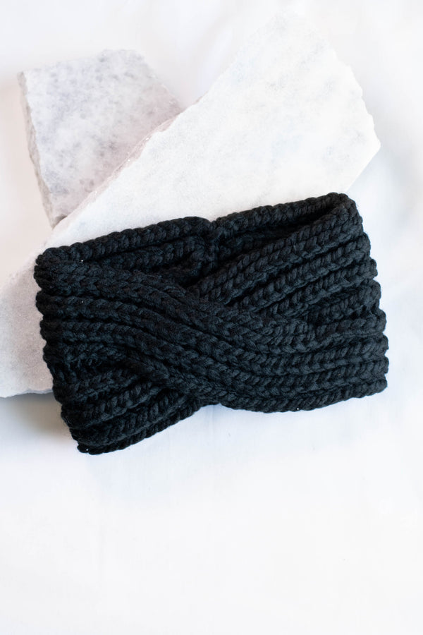 Warming Trend Headband, Black