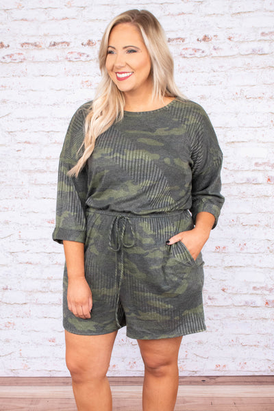 I Dare You Romper, Army Green