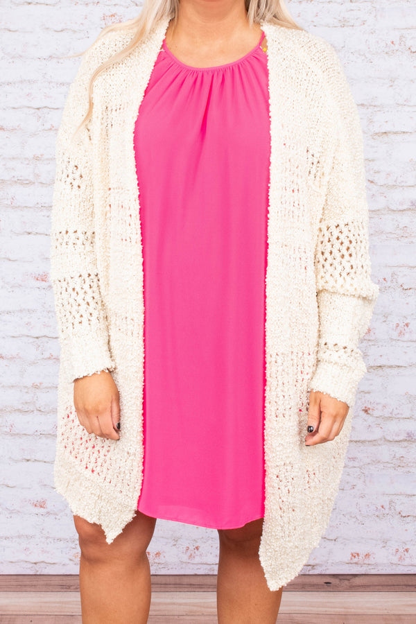 cardigan, long sleeves, knit, cream, solid, long, comfy, cozy, fall, winter