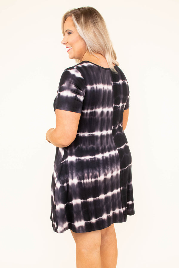 Kick On Back Dress, Charcoal