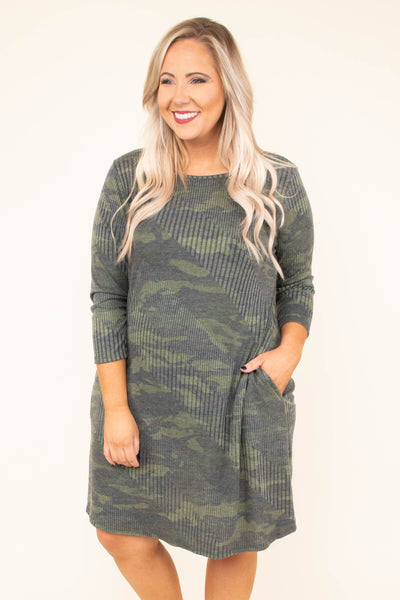 Can't Catch Me Dress, Army Green