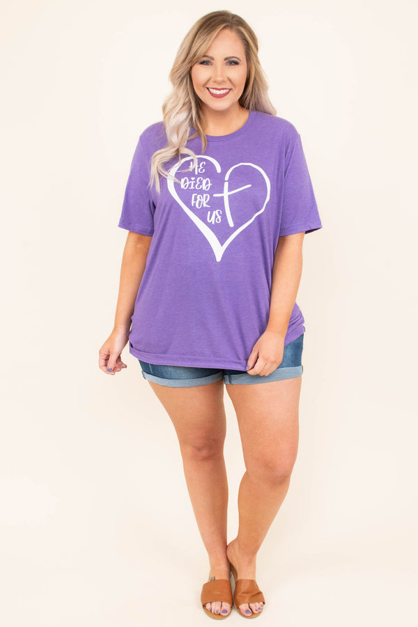The Greatest Of These Is Love Tee, Heather Purple