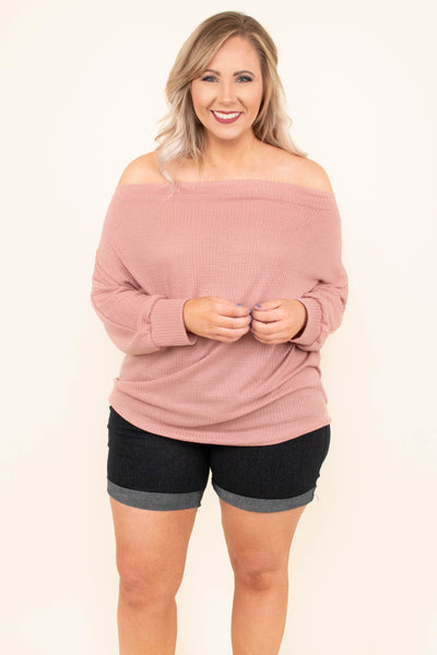 Sugar And Spice Top, Dusty Pink