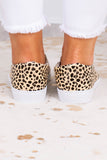 slides, slip on, closed toe, closed heel, white heel, beige, black, leopard