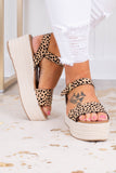 shoe, sandals, cheetah, tan