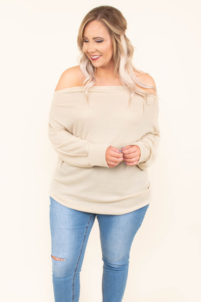 Sugar And Spice Top, Oatmeal