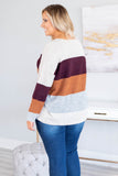 sweater, long sleeve, flowy, burgundy, white, gray, orange, heathered, colorblock, comfy, fall, winter