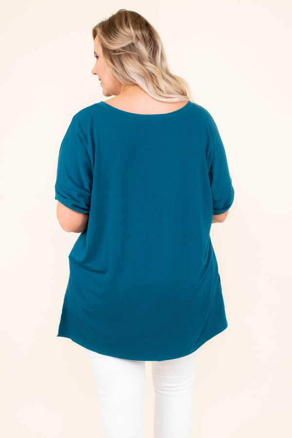 Comfy Travels Top, Teal